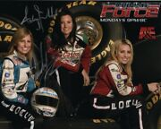 Courtney And Ashley Force Signed Autographed Nhra W/ Brittany Photo