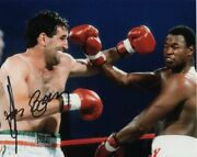 Gerry Cooney Signed Autographed Everlast Boxing Boxer W/ Larry Holmes Photo