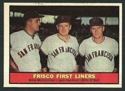 Mike Mccormick Jack Sanford Billy O'dell 1961 Topps Frisco First Liners Crd 383
