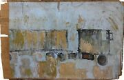 Purvis Young Untitled   Original Painting On Wood   15 X 23   Make An Offer