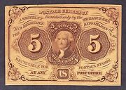 Us 5c Fractional Currency 1st Issue Imperf W/ Monogram Fr 1230 Ch Cu 064