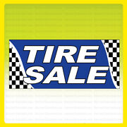 Tire Sale Vinyl Banner Tires Sign Checkered 3x10 Ft - Bb