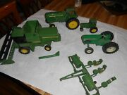 John Deere Toy Tractors Lot Of 5 See Photos