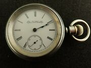 Vintage 18 Size Elgin Pocket Watch Grade 10 From 1893 Running And Keeping Time