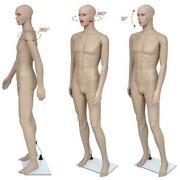 Male Full Body Realistic Mannequin Display With Base 183cm