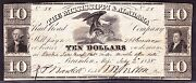 Us 1838 10 Mississippi And Alabama Rr Obsolete Currency Note Vf 058