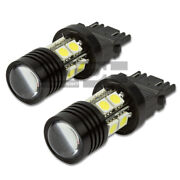 3157 10-smd Q5 12v 7w White Super Bright Led Projector Cree Lights/lamps Pair