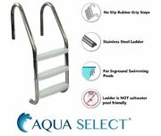 Aqua Select 3 Step Inground Swimming Pool Ladder With Stainless Steel Steps