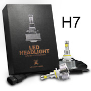 H7 Led Headlight Conversion Kit 20w, 2400lm 6000k Replacement Halogen Hid Bulbs