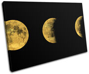 Moon Stages Crescent Modern Office Space Single Canvas Wall Art Picture Print