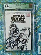 Simpsons Star Wars Shattered Empire 1 Signed And Sketched By Bill Morrison Cgc 9.6