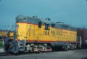 Original Slide Up Union Pacific Rare Black Numbered Gp9 188 In 1983