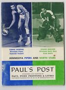 1968/69 Minnesota Pipers And North Stars Yearbook Paul's Post Hawkins Maniago Vg