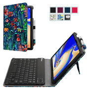 For Samsung Galaxy Tab S4 10.5 2018 Folio Pu Leather Stand Case Cover + Keyboard