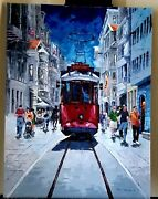 Oil On Canvas Mixed Colors With Palate Knife By Peter Bwabye