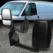For 03-18 Chevy Express/gmc Savana Pair Oe Manual Adjustment Side View Mirror