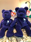Very Rare 1997 Beanie Baby 1st Edition Ty 8 Pe Pellets Princess Diana Of Wales