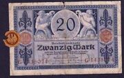 Germany Reichbanknote 20 Mark ,1915, Berlin With Plombe