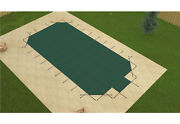 Gli Hyperlite Solid W/ Pump Rectangle Pool Safety Cover W/ 4' Corners And Step
