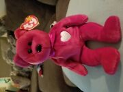 Ty Beanie Babies Collection Andldquovalentinaandrdquo Valentineandrsquos Day Bear - Rare Tag Errors