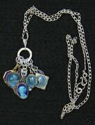 Sterling Charm Pendant W 10 Vintage Rare Religious Medals Enameled On Both Sides