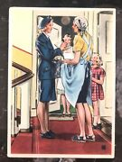 Mint Ww2 Postcard Germany Women At Work Mail Carrier