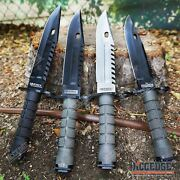 12.75 M9 Bayonet Survival Knife + Scabbard W/ Saw Back Wire Cutter