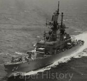 Uss Reeves Dlg-24 Cg-24 Cruiser Authentic Us Navy 8x10 Photo 1972