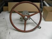 Vintage Chris Craft + Others 20s 30s Wood Boat Rubber Steering Wheel Shift Hub