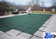 Loop Loc Green Ultra Loc Iii Swimming Pool Solid Safety Covers W/ Step And Pump