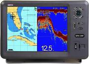 X10d Gps Chartplotter Gpx-120f Complete With Plastic Thru-hull Transducer