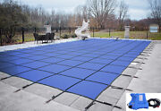 Loop Loc Blue Ultra Loc Iii Swimming Pool Safety Cover W/ Pump - Choose Size