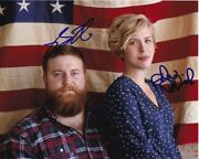 Ben And Erin Napier Signed Hgtv Home Town American Flag 8x10 Photo