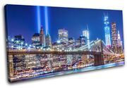 9/11 Tribute In Lights New York Nyc City Single Canvas Wall Art Picture Print