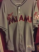Miami Marlins Game Used Fort Bragg Baseball Jersey Mlb Certified Braves Rare 1/1