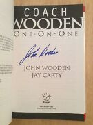 Signed By Coach John Wooden Ucla - One On One Hc Book 1st/1st + Pic