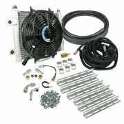Bd-power Xtruded Auxiliary Remote Mount Trans Oil Cooler With Fan And 5/8 Lines