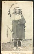 1913 East Palestine Oh Usa Rppc Postcard Cover Chief Ogallala Fire Custer Last F
