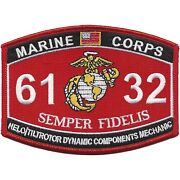 4.5 Marine Corps Mos 6132 Helo/tiltrotor Dynamic Components Mechanic Patch