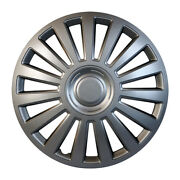 Fiat Hub Caps 15 Luxury Rims Silver Hubcaps Tuning Wheel Cover