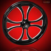 2000-2007 Harley Black Contrast 26 Inch Front Wheel And Floating Rotors Maltese