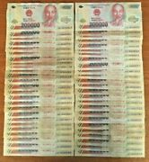 Vietnamese Dong 10 Million 50 X 200000 Note Vietnam Banknotes Currency Money
