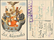 1937 Valencia Spain Civil War Pc Cover To Czechoslovakia Signed By Volunteers