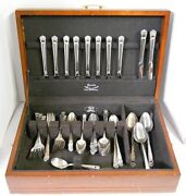 1847 Rogers Bros Is Eternally Yours Silver Plate Flatware Set W/ Chest 80 Pc