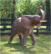 Life Size Baby Elephant Statue Jungle Book Dumbo Pachyderm With Tusks