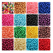 Acrylic Faux Pearl Beads 3mm - 8mm 21 Colours Beading Wedding Crafts