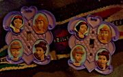 Two Face Plates For Light Switches Princesses Are On Them Comes With Screws