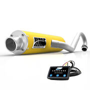 Hmf Performance Full System Exhaust Yellow + Efi Optimizer Can Am Outlander 800
