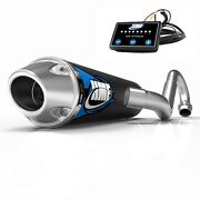 Hmf Competition Comp Full System Exhaust Pipe + Efi Optimizer Ds 450 2008-2015