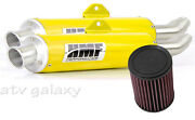 Hmf Can Am Renegade 1000 2012 - 2016 Yellow Dual Full Exhaust And Kandn Air Filter